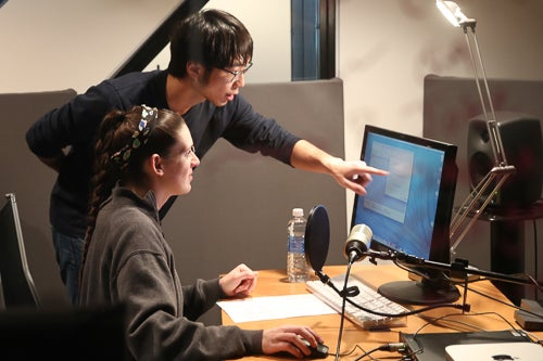 Undergraduate Research Assistants Huang Zou and Rose Pisacano